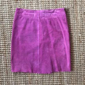 Express 100% suede fuchsia skirt. Sz 9/10.